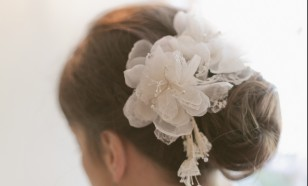 Silk organza hair pins