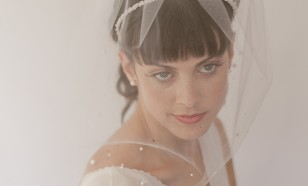 Dotted Pearl Birdcage veil