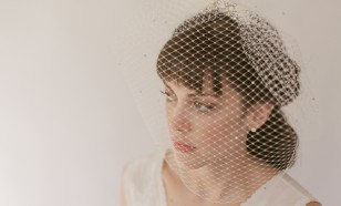 Bejeweled French Net Birdcage Veil