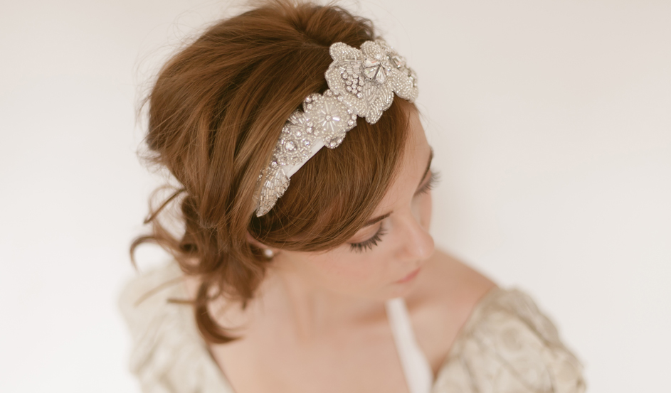 Vintage era beaded headband