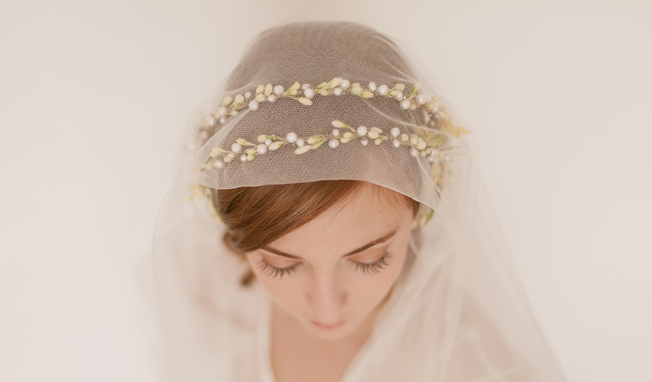 Double orange blossom crown