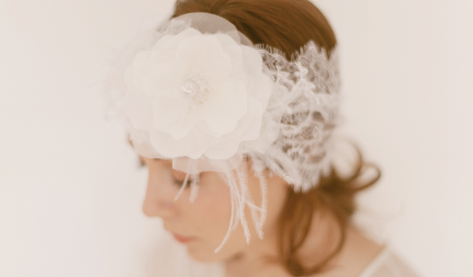 French Chantilly lace headwrap