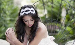 Alencon lace double headband