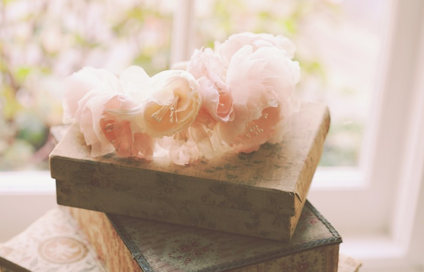 Blush silk flower crown