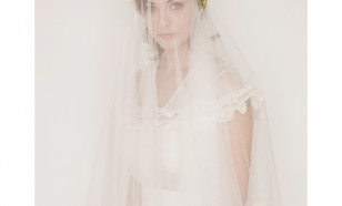 Silk tulle lace edge circle veil