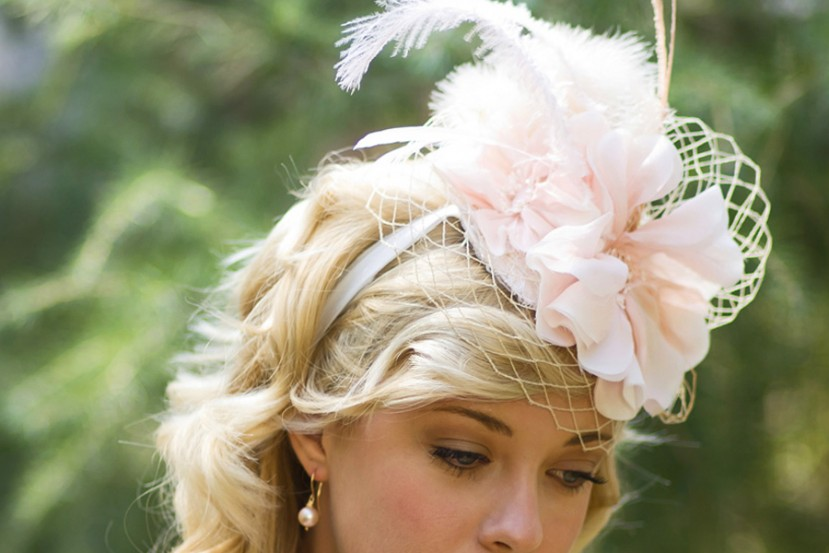 Blush Pink Poppy Mini Hat