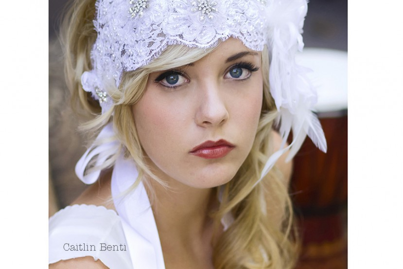 1920s Alencon Lace Bridal Cap