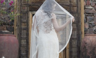 English silk tulle circle veil 749