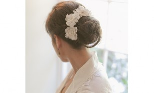 Alencon lace headpiece set