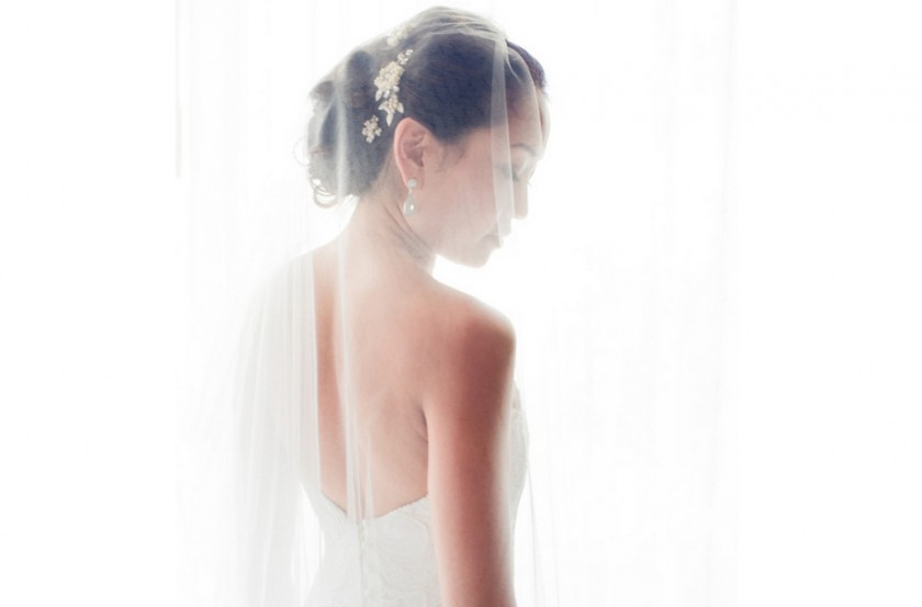 Silk Tulle Circle Drop Veil