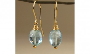Aquamarine March Birthstone Earrings