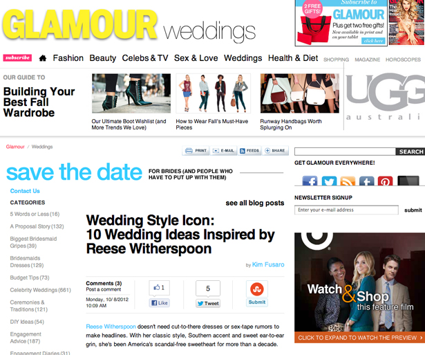 Glamour Weddings 10/2012