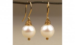 Plump Freshwater Pearl Earrings