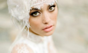 Deco lace bridal headwrap