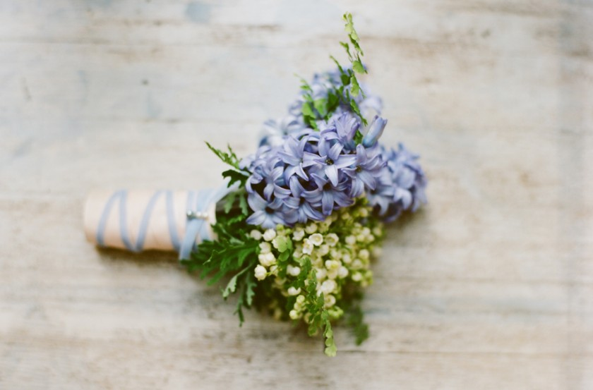 Violet posy by Floral Occasions