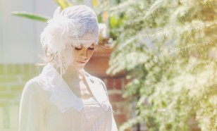 1920s FRENCH CHANTILLY LACE BRIDAL CAP