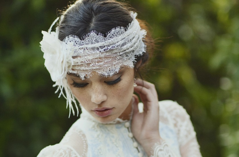 Chantilly lace head wrap