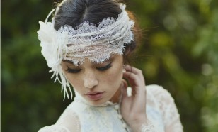 Chantilly lace bridal headwrap