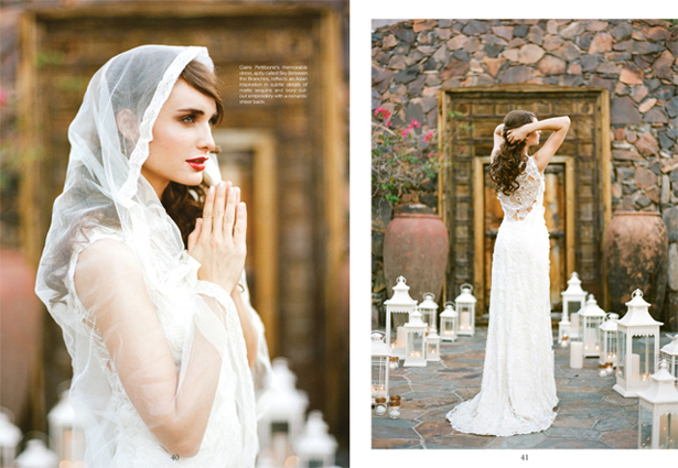 My silk tulle veil with Claire Pettibone