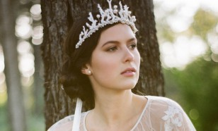 Nellie White Coral & Freshwater Pearl Bridal Crown