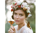 FANNY SILK FLOWER BRIDAL CROWN