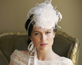 BELLBOY PILLBOX BRIDAL MINI HAT
