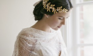 Octiavia Roman leaf bridal crown