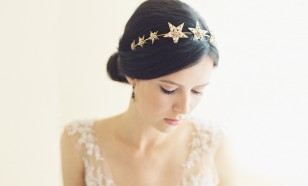 NORTHSTAR JEWELED BRIDAL FILIGREE STAR HEADBAND