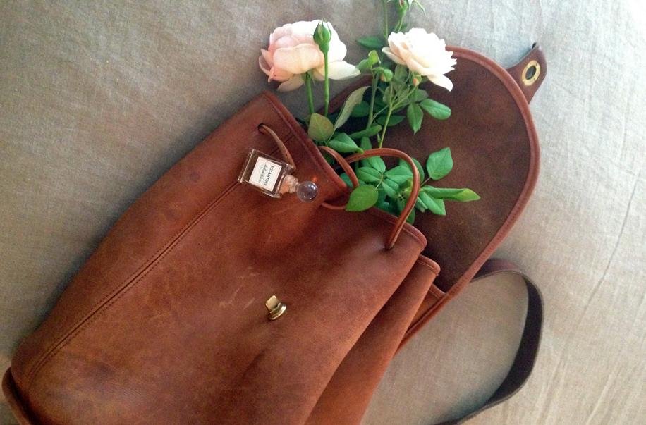 EGLANTINE ROSE SATURATES MY COACH PACKPACK