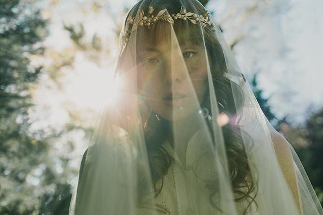 My beloved silk bridal veil